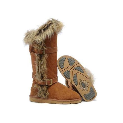 UGG Boots Fox Fur tall 1984 Chestnut