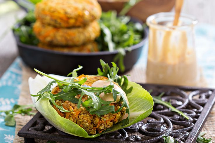 "Eating Plant-Based? Try these Chickpea Burgers with Cashew ""Mayo"" (They're Vegan!)"