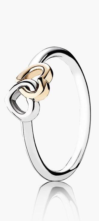 PANDORA 'Heart to Heart' ring http://rstyle.me/n/v5r2in2bn