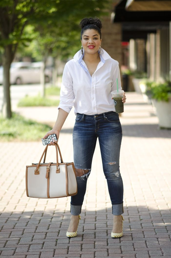 A Classic White Button Up…