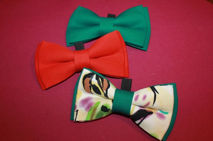 Double XXL bow ties for dogs (16/8 cm), hand made, can be attached to the collar.