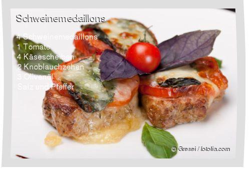 Leckeres Schweinemedaillons Rezept mit einfacher Schritt-für-Schritt-Anleitung: Knoblauch fein hacken und mit Olivenöl, einer Prise Salz und Pfeffer ver...