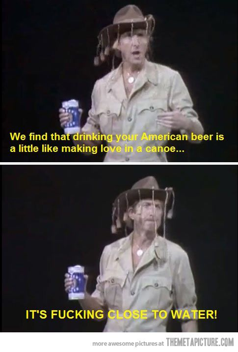 Monthy Python on American beer… I dont like beer either