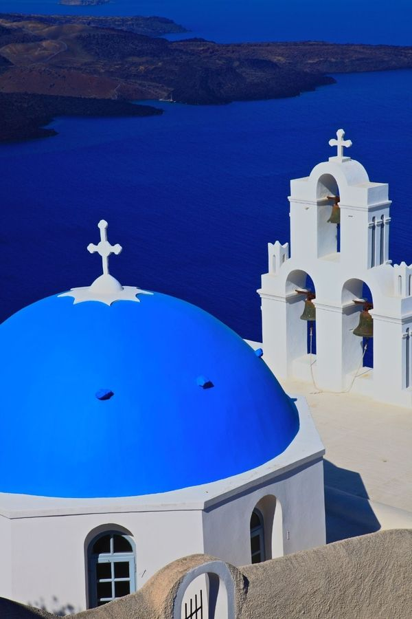Volcano & Churches, Just Santorini