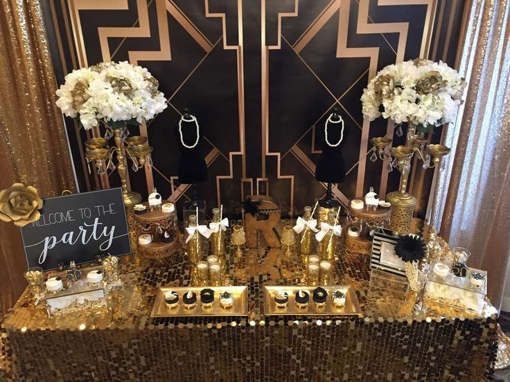 The Roaring 20s Great Gatsby 50th birthday party