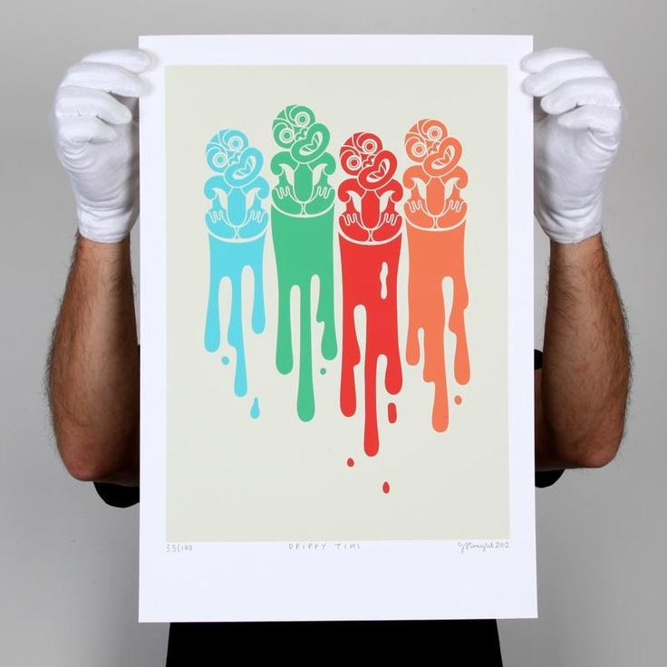 Drippy Tiki Print by Greg Straight