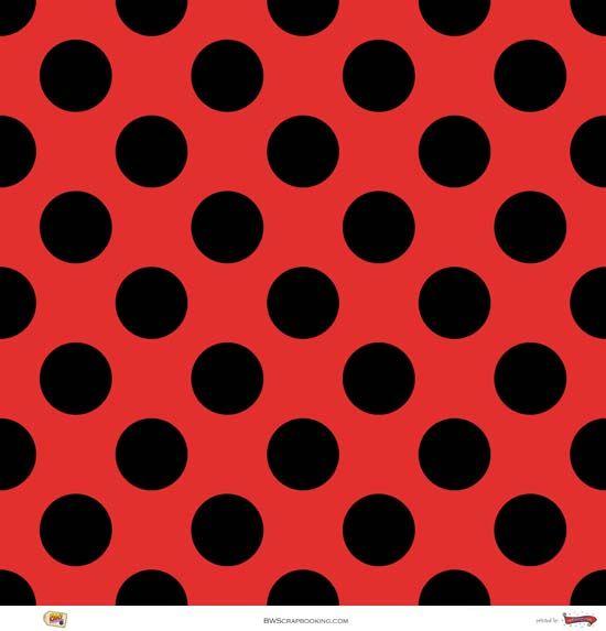 Ladybug-like Scrapbook Paper from BW Scrapbooking. #ladybug #scrapbook #redandblack