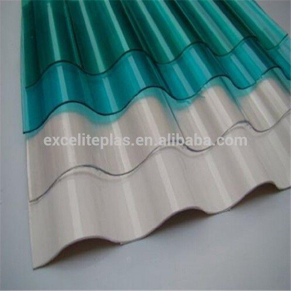 100% nieuw materiaal uv gecoat polycarbonaat golfplaten voor kas dakbedekking…