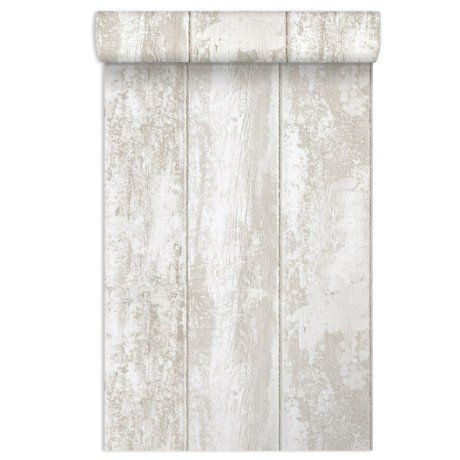 Papier peint vinyle expansé sur papier Monrovilla, blanc, larg. 0.53 m