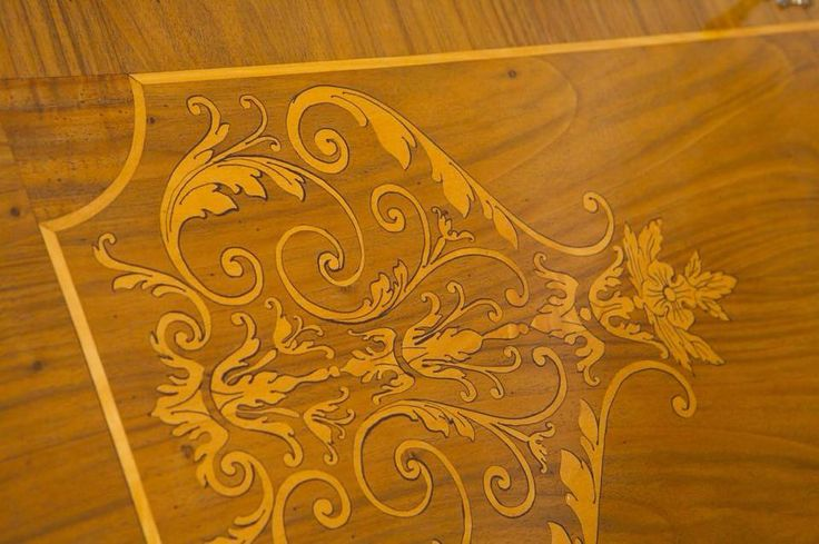 The inlay can define the character of furniture and make it unique