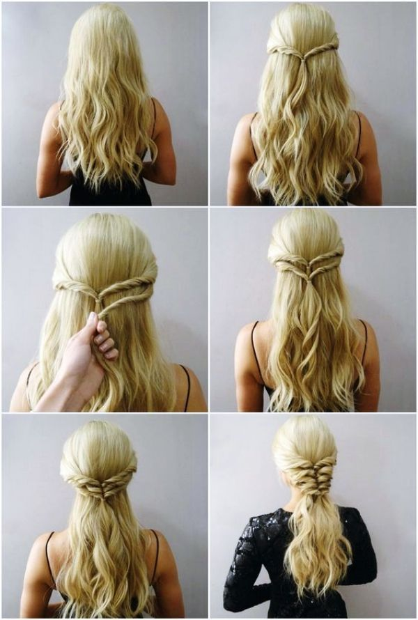 45 Quick And Easy Updo Tutorials For Medium Hair Hairtutorials Quick And Easy Updo Tutorials For Medium Ha Medium Hair Styles Easy Hairstyles Long Hair Styles