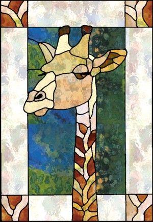 Stained Glass Giraffe with pattern: http://chantalstainedglass.50megs.com/2giraffepanel.html