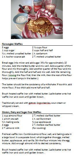 Apple Blossom Dreams: Vafler (Waffles)