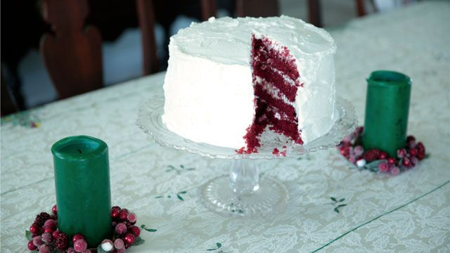Bake Vivian Howard's red velvet cake recipe from the holiday special of A Chef's Life on PBS Food.