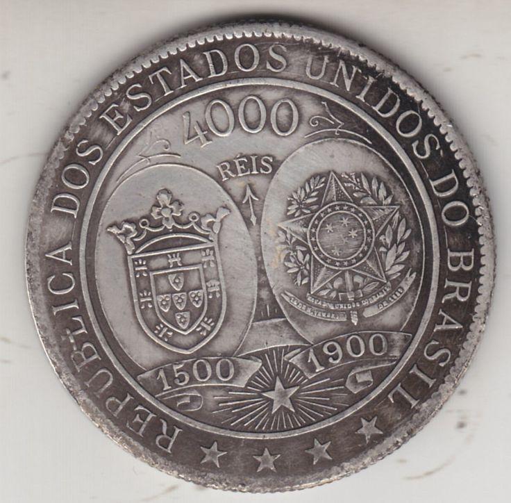 brasil,  4000  Reis,      1900