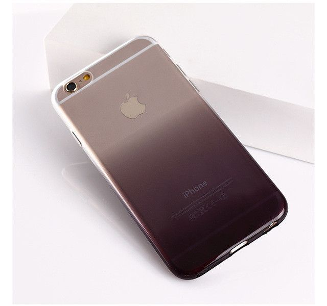 New Gradient Case for iPhone 5 5S SE / 6 6s 4.7 / 6 Plus 6s Plus 5.5 / 7 7plus TPU Case Soft Dual Silicon Cover Fundas TPU Gel