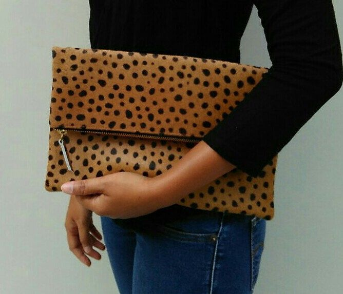 Leopard fold over clutch, leopard print leather clutch, leopard calf hair zipper clutch, leather clutch, cow hide leather clutch by alusIndonesia on Etsy https://www.etsy.com/listing/235886488/leopard-fold-over-clutch-leopard-print