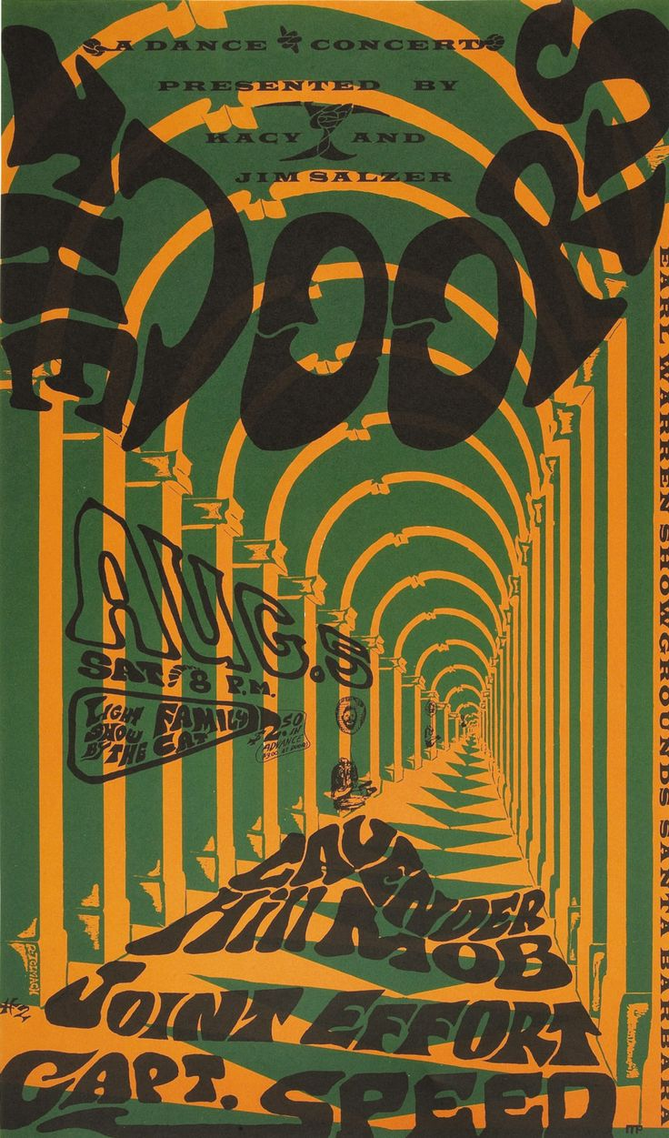 The Doors with  Lavender Hill Mob/Joint Effort/Captain Speed, Saturday 5 August 1967  - Earl Warren Showgrounds, Santa Barbara, California.