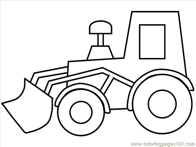 printable digger coloring pages