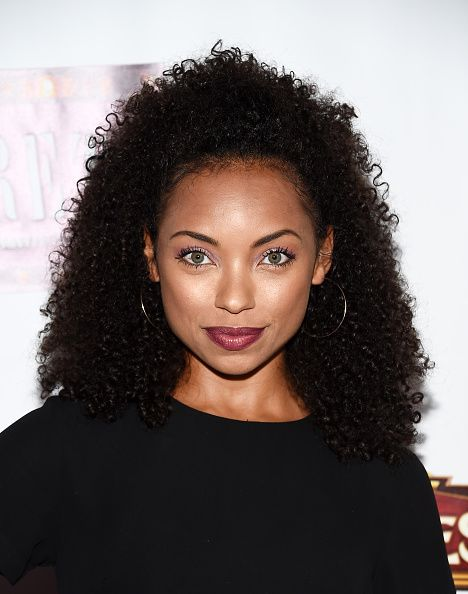 Actress Logan Browning arrives at the opening of 'Cabaret' at the Hollywood Pantages Theatre on July 20 2016 in Hollywood California