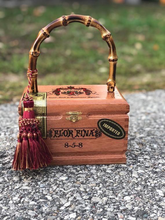 Cigar Box Purse - VLM Collection handmade by Victoria No. 12 - Pandora 7301244905578
