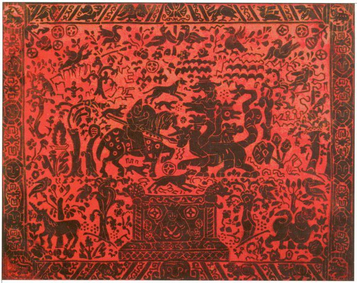 Н.К.Рерих. Бой со змеем (эскиз занавеса, вариант). 1914