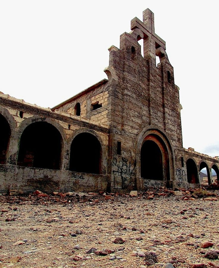 Abandoned Church - Ghost Town by chilacris on @DeviantArt