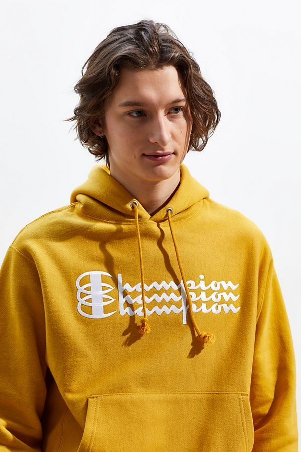 c24018a2413e Champion UO Exclusive Triple Script Reverse Weave Hoodie Sweatshirt   Urban  Outfitters