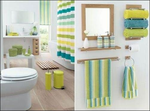 Bathroom, Colorful Bathroom Design With Many Kinds Of Pretty Bathroom Ornaments: Beautifying Bathroom Could Be Done with Proper Bath accesso...