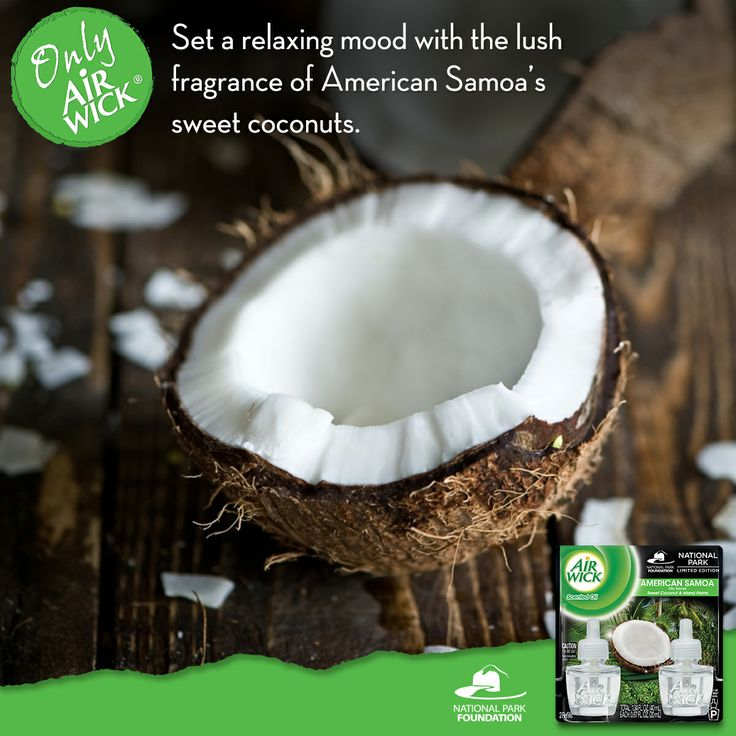 Did you know the scent of coconut is considered a stress reliever? Sit back and relax with the refreshing scent of American Samoa. https://www.facebook.com/AirWickUS
