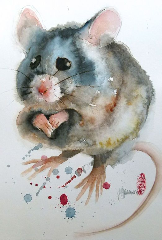 another mouse painting by mariehelene stokkink