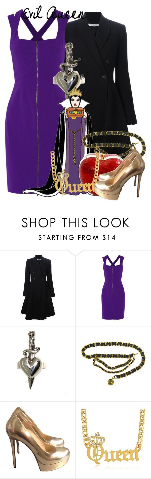 """""""Evil Queen--Psylocke"""" by fandom-girls ❤ liked on Polyvore featuring Givenchy, Diane Von Furstenberg, Metal Couture, Gianmarco Lorenzi and psylockebounds"""
