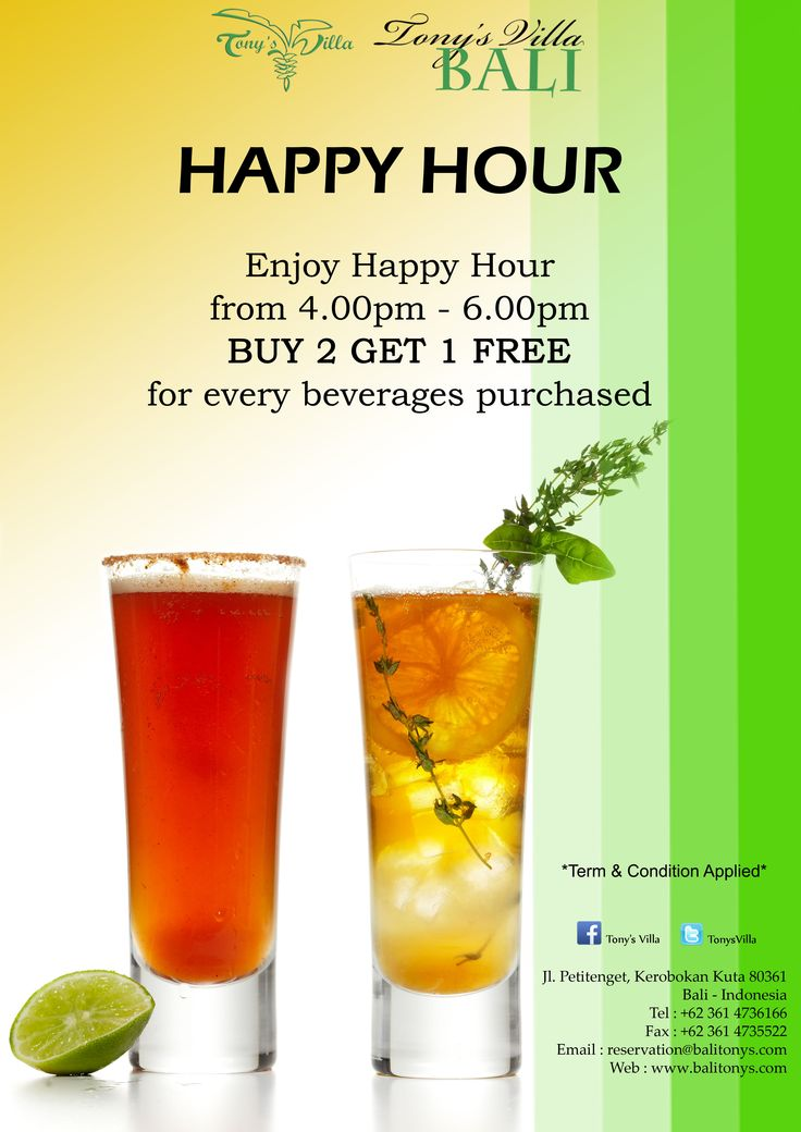 Weekend is coming! Let's enjoy the spacious pool surrounded by huge garden with the special beverages offer. Happy Hour! Buy 2 Get 1 FREE start from 4pm – 6pm, for every beverages purchased. #bali #balimagic #tonysvilla #villainseminyak #honeymoon #holiday #happyhour #promotion
