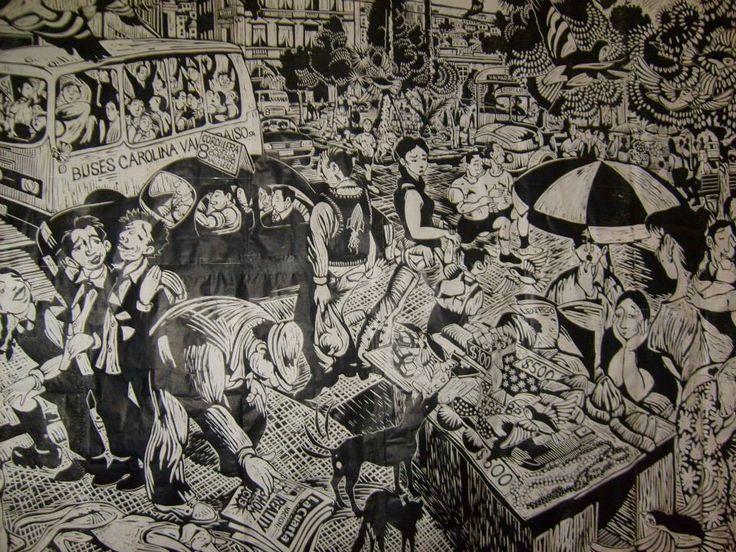 Loro Coiron, artiste français vivant au Chili depuis plus de 10 ans, ses gravures très riches sont parfaites pour travailler la description d'images.