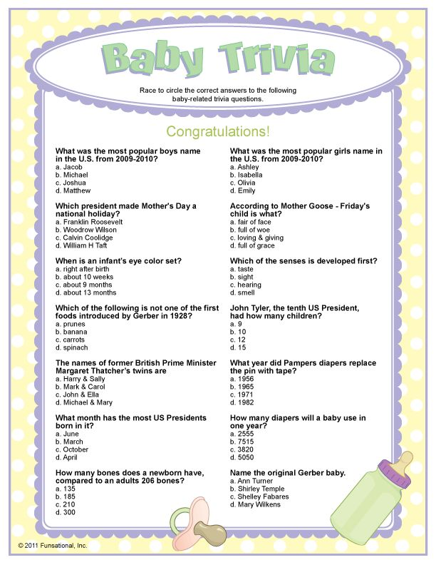 Printable Baby Shower Games | Baby Shower Games AtoZ