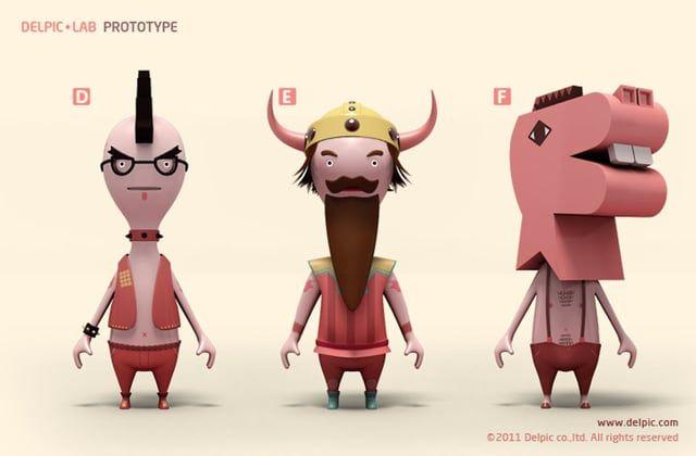 Character prototype A~J www.delpic.com