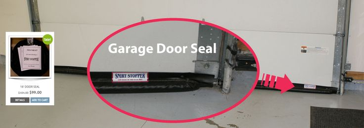 A garage door seal, gap seal and threshold seal that mounts to the inside face of the door instead of the bottom, which is energy saving.