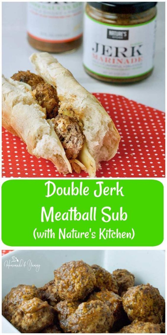 #sponsored  Double Jerk Turkey Meatball Sub made with Nature's Kitchen seasonings is a wild flavour explosion in your mouth. Your taste buds will be doing back flips. | homemadeandyummy.com
