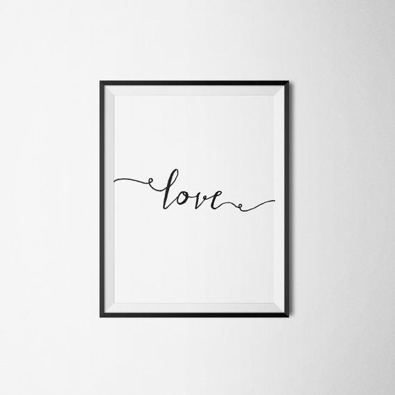 Love print 2 COLORS  white/black 8x10 by LovePrintableArt on Etsy