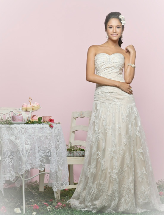 Vintage lace gown by Charlotte Balbier