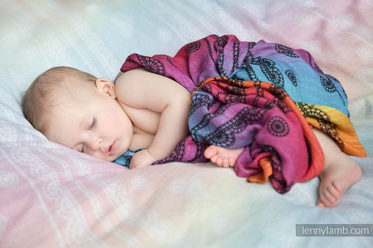 SWADDLE WRAP - RAINBOW LACE DARK