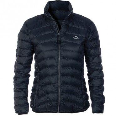 ceb3929494a574 K-Way Women s Swan Down Jacket - Black Dark Charcoal