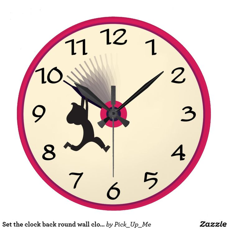 Set the clock back round wall clock