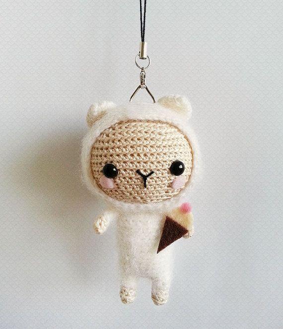 Crochet Lamb Bag Charm, Lamb Amigurumi Doll, Cute Bag Charm, Gift For Her, Lamb Keychain, Cute Phone Charm, Kawaii Keychains, Zipper Charms