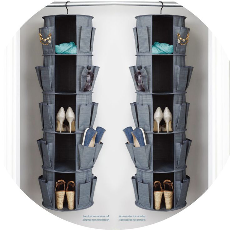 Storage Bag for Clothes Cosmetic Jewelry Multifunctional Hanging Closet Foldable Carousel Shoe Organizer