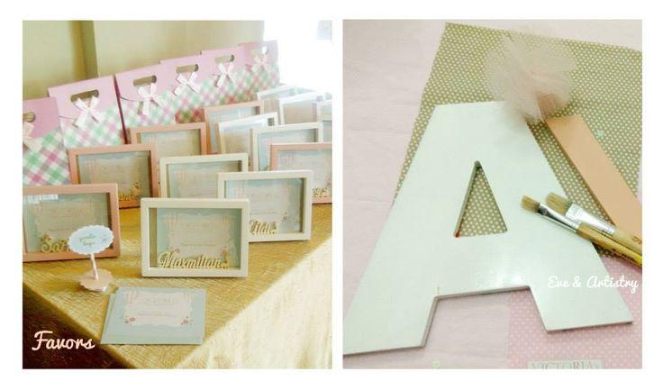 Custom photo frame and custom alphabet block by Eve & Artistry.
