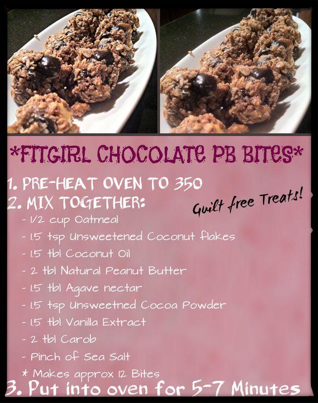 healthy dessert - FitGirl Chocolate PB Bites