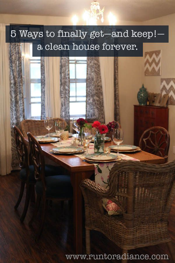 I'm so tired of spending my entire weekend cleaning up every day. This post was awesome and I think will really help me. It's 5 ways to get—and keep—a clean house forever. No more wasted weekends!