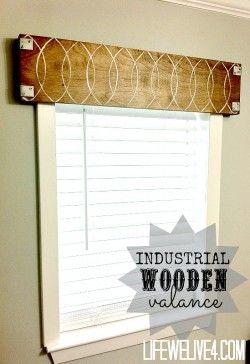 Wonderful Unique Window Valance Ideas Industrial Wooden Metal Wood Eclectic Valanceunique Treatmentswooden Windowswindow Valancesdiy To Design Decorating