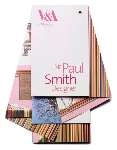 V&A flyer design ( Sir Paul Smith)